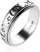 Mens Womens Spinner Band Ring 925 Sterling Silver Statement Boho Handmade Fashion Jewelry..