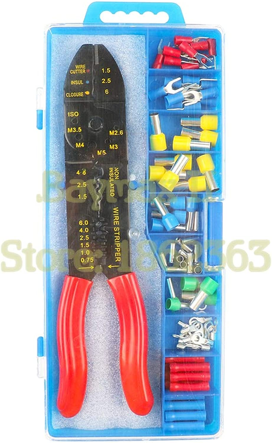 FS-01 Multi-Functional Cimping Tool Wire Stripper with Kinds Insulation Non-Insulation Ferrules and Fork Type Termianls