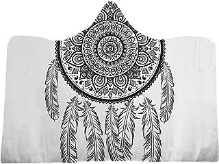 Norbi Hooded Blanket Super Soft Wearable Blanket 3D Digital Printing Dream Net Thick Throw Wrap Cloak Cape-D3