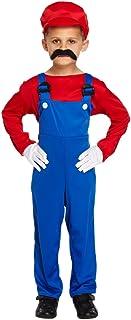 Disfraz Rojo de Mario para Niños - Pequeño (4-6