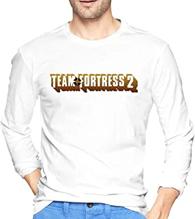 Aghdfssdhg Men's Classic Print with Team Fortress Long Sleeve Round Neck T-Shirts
