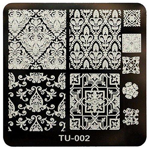 TOOGOO DIY modele de manucure de plaque d'impression d'image pour l'art a ongles (TU-002)