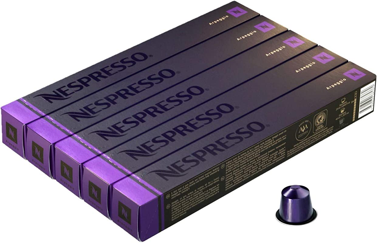 Nespresso OriginalLine Arpeggio 50 Count NOT Compatible With Vertuoline