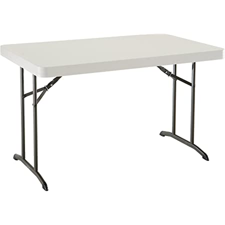 Amazon Com Flash Furniture 4 Foot Granite White Plastic Folding Table Furniture Decor