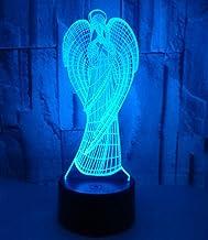Angel Girl SFALHX 3D Illusion Lamp, Controller Nachtlampje met Afstandsbediening Touch 16 Kleur Veranderende Bureaulampen ...