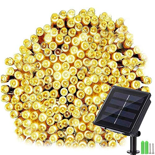 Geemoo Solar Fairy Lights, 72ft 200 LED Solar Lights Outdoor Garden, 8 Modes Waterproof Solar String Lights for Trees Patio Fence Wedding Party Decor (Warm White)