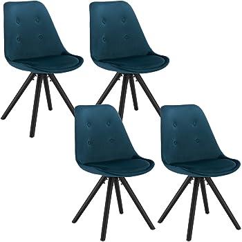 WOLTU® BH196bl 1 1 Stück Esszimmerstuhl, Sitzfläche aus Samt