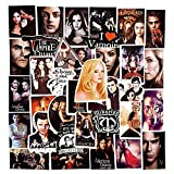 XXCKA Serie de televisión The Vampire Diaries Pegatinas Impermeables de Dibujos Animados para Snowboard portátil Scrapbook DIY Juguete Equipaje monopatín 50 unids/Set