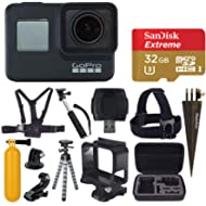 GoPro HERO7 Black Digital Action Camera with 4K HD Video 12MP Photos, SanDisk 32GB Micro SD Card,...