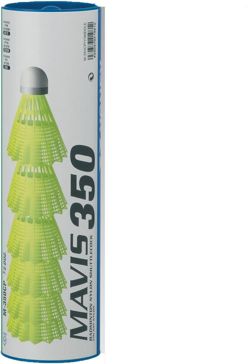 YONEX Mavis 350 Plastic Shuttlecocks (Pkg of 4 Tubes (24 pcs) -
