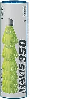 Yonex Mavis 350 Plastic Shuttlecocks (Pkg of 4 tubes (24 pcs) - White Medium Speed)