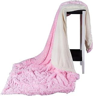 Hot-Bed Manta de Pelo, Manta, de Techo, Manta, Manta, diseño de Cuadros, Manta de Piel sintética, diseño de Cuadros, poliéster,D,(160 * 200cm)