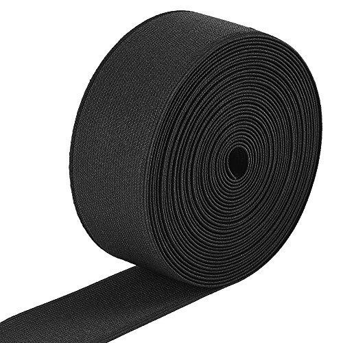 Jalan 6 Meter Gummiband Elastisch Band 38 mm Breit, schwarz