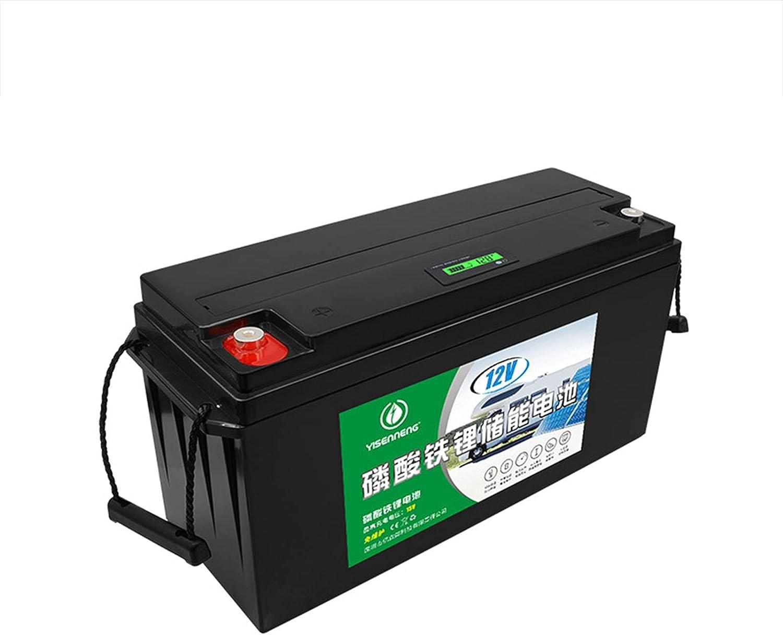 12V 180AH Batería Recargable de Ciclo Profundo Litio Fosfato de Hierro Batería de Almacenamiento de Energía Solar Batería RV para Energía Solar, Exterior, Aparatos Eléctricos, Barco