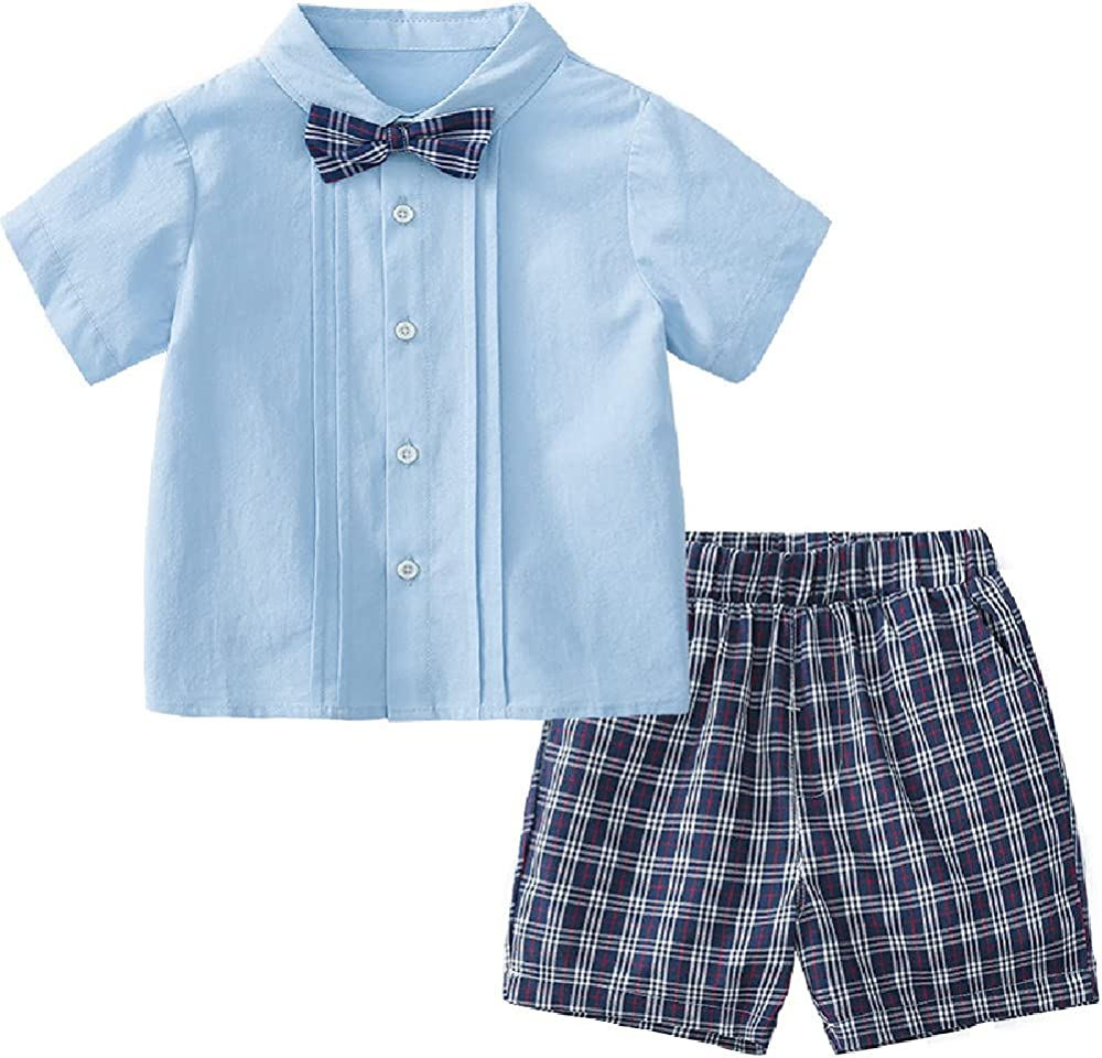 Quenny Children's Short-Sleeved Two-Piece Suits,Summer Children's Clothing.