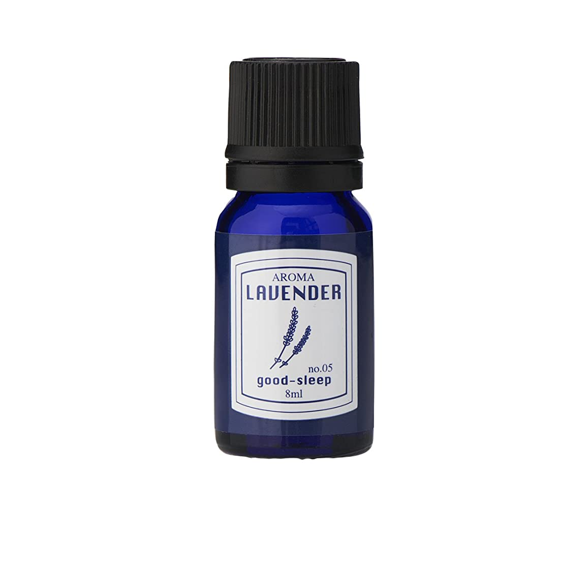 酔って速い汚染ブルーラベル アロマエッセンス8ml ラベンダー(アロマオイル 調合香料 芳香用 心落ち着ける清々しい香り)