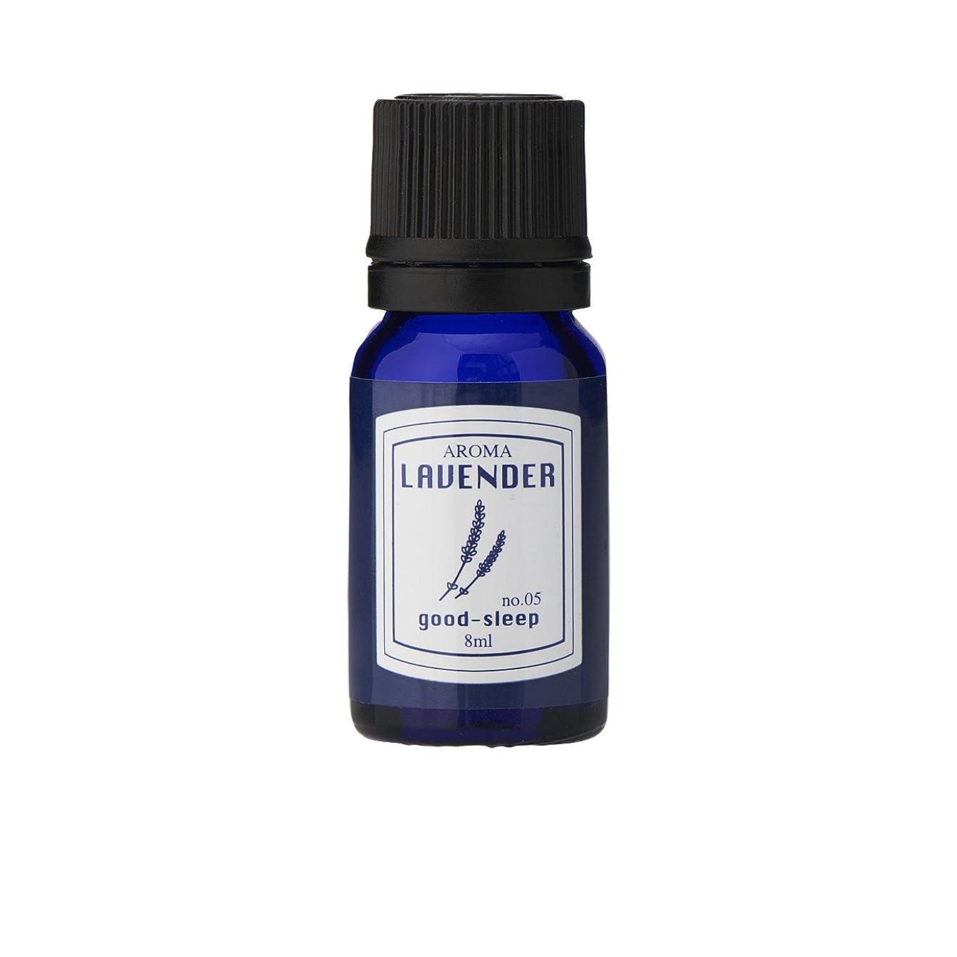 紫の飲み込む偽物ブルーラベル アロマエッセンス8ml ラベンダー(アロマオイル 調合香料 芳香用 心落ち着ける清々しい香り)