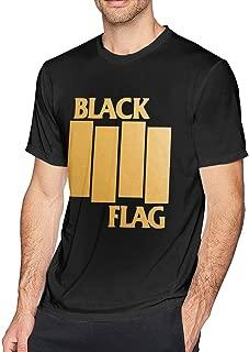 Chelssat Black Flag Band Logo Men's Cool Short Sleeve Tee Black
