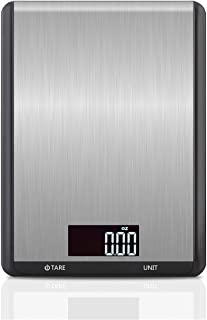 Food Scale, 10kg/1g Digital Kitchen Scale Weight Grams and oz for Cooking Baking, 8.27 x 6.1 x 0.67 in, Stainless Steel (B...
