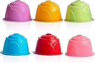 PopHMN Capsule de café réutilisable, capsules de filtre rechargeables de capsules de café 6PCS pour Dolce Gusto