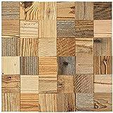 wodewa Holz Wandverkleidung selbstklebend 3D Optik Altholz Sonnenverbrannt 30x30cm Wandpaneele Moderne Wanddekoration Holzverkleidung Wohnzimmer Schlafzimmer