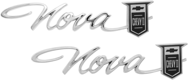 "Trim Parts 3030 Rear Quarter Emblem II Chevy Nova ""Nova Cheap SALE Start C Super-cheap 1965"