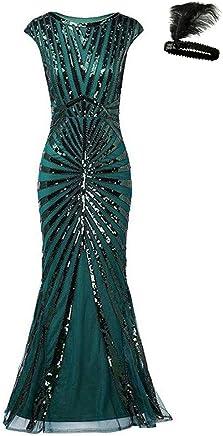 26ffadb18c Formal Evening Dress 1920s Sequin Mermaid Maxi Long Flapper Gown Party