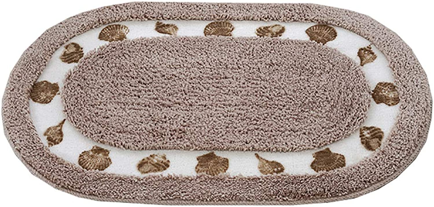 Door mat,Carpet Entrance mat Soft Fluffy Carpet Door mat Bathroom Bedroom Kitchen Rug- Light Brown 50x80cm(20x31inch)