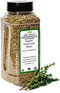 Sponsored Ad - HQOExpress | Organic Thyme Leaf | 7 oz. Chef Jar
