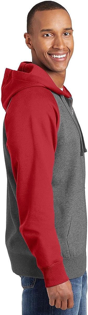 Sport-Tek Men's Soft Pullover Hooded Sweatshirt_Tr Red/Vnt He_X-Large