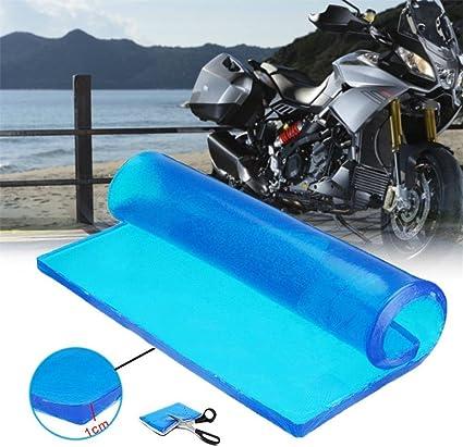 Motorradsitz Gel Polster Stoßdämpfend Weiches Kissen Blau Komfort Matten Motorrad Zubehör 25 X 25 X 1 2 Cm Drogerie Körperpflege