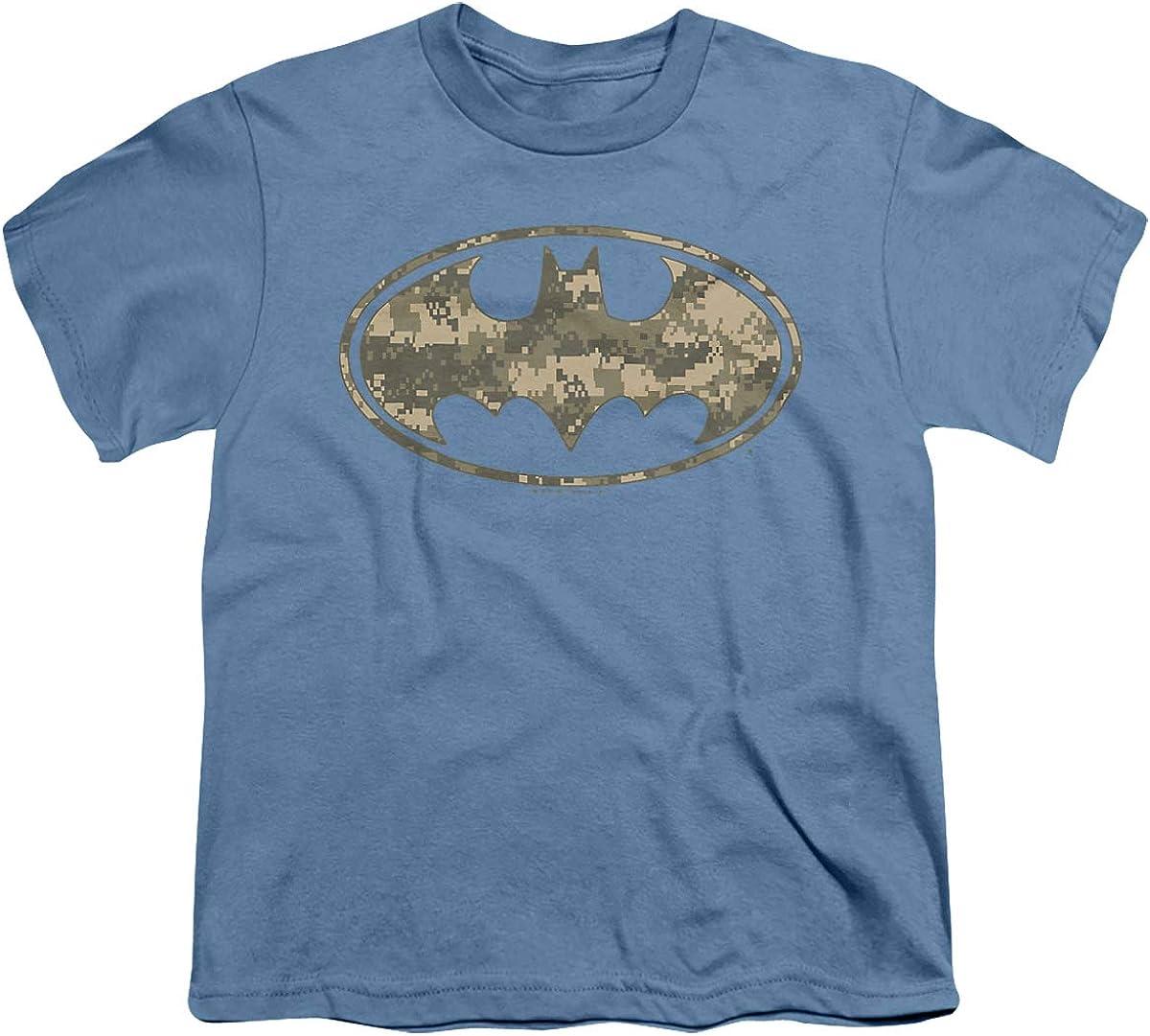 Batman Army Camo Shield Unisex Youth T Shirt