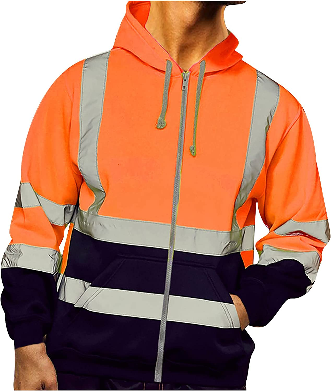 New Orleans Mall Super popular specialty store High Visibility Pullover Mens Work Long Sle Sweatshirt Road