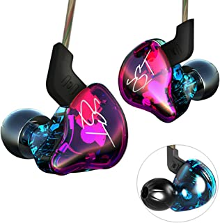 Yinyoo KZ ZST auriculares, estructura balanceada + driver dual dinámico híbrido, alta fidelidad, in-ear