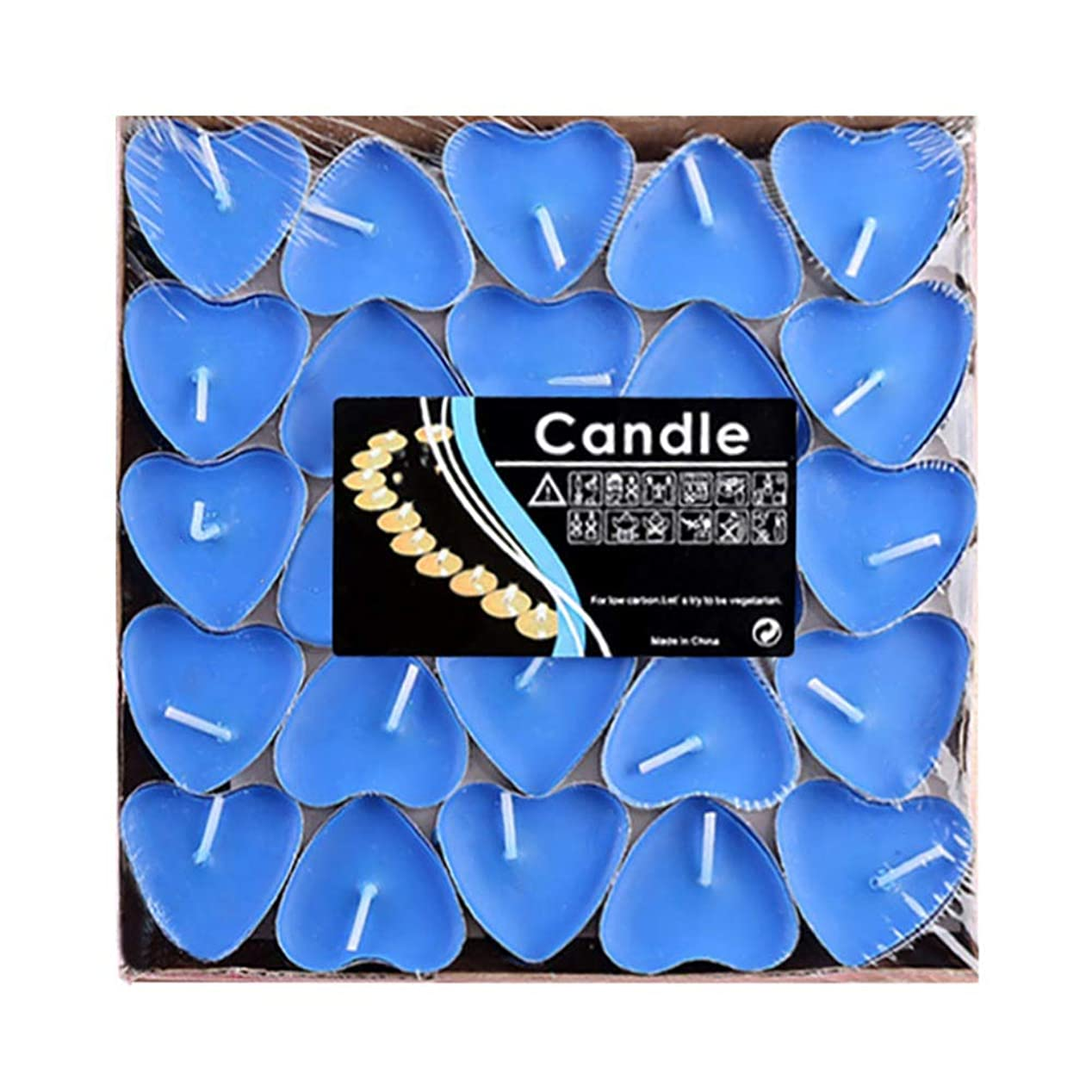 一貫したスピーカーどれHwagui ハート型 キャンドル 人気 アロマキャンドル 芳醇で キャンドル ロマンス、愛の告白、キャンドル 50個 2時間 ZH009