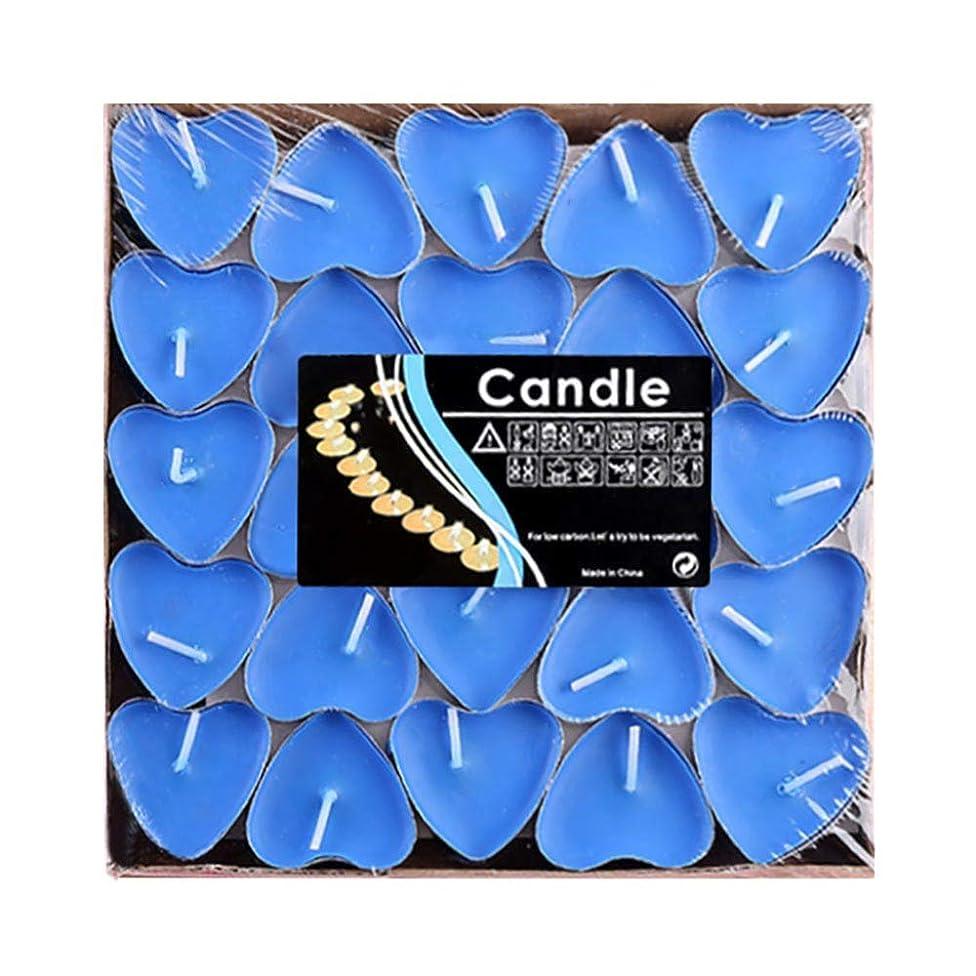 プーノ累積秘書Hwagui ハート型 キャンドル 人気 アロマキャンドル 芳醇で キャンドル ロマンス、愛の告白、キャンドル 50個 2時間 ZH009
