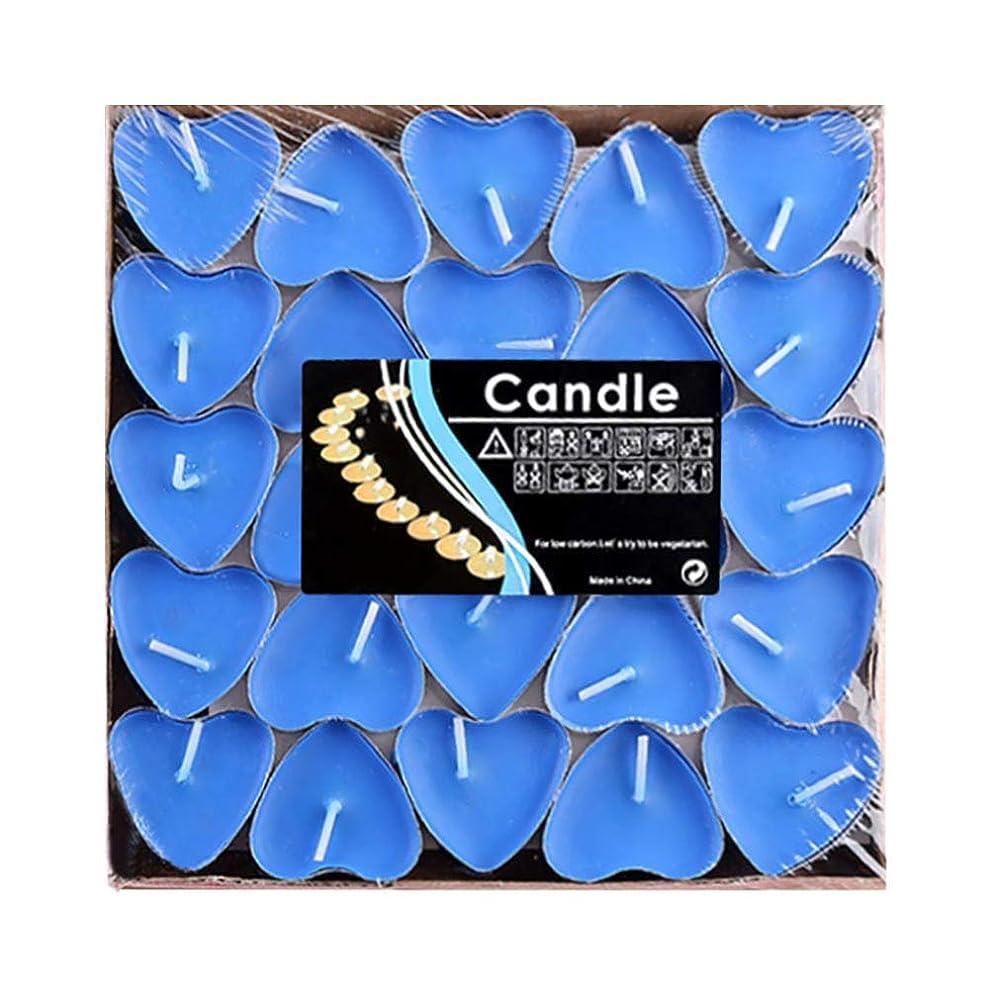 派手信じる記念日Hwagui ハート型 キャンドル 人気 アロマキャンドル 芳醇で キャンドル ロマンス、愛の告白、キャンドル 50個 2時間 ZH009