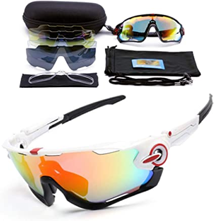 YHFS Sports Sunglasses Polarized 5 Lens Cycling Eyewear Mtb Bicycle Sun Glasses Cycling Sunglasses Mountain Bike Goggles Myopia Frame
