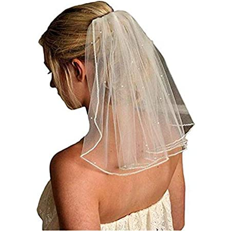 Veil Comb White With Gold Bride to Be Hen Night Wedding Party Accessories Ne