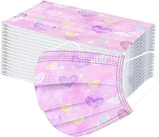 50 Pièces Jetable Enfant Face Tissu Non-tissé 3 Plis Protection Faciale Màsque Antipoussière Doux Respirant Haute Qualité ...