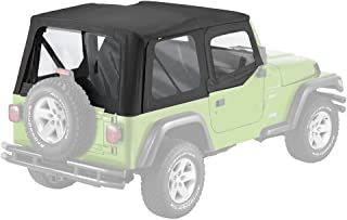 Pavement Ends by Bestop 51131-35 Black Diamond Replay Replacement Soft Top Clear Windows w/Upper Door Skins for 1997-2006 Jeep Wrangler