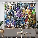 Super Smash Bros Ultimate cortina de dormitorio filtro de luz, oscurecimiento perfecto para cocina/dormitorio/sala de estar/oficina y más ancho 84 x largo 84