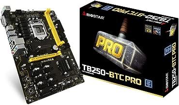 Biostar Motherboard TB250-BTC PRO Core i7/i5/i3 LGA1151 Intel B250 DDR4 Supports 6 AMD and 6 NVIDIA Graphics Cards