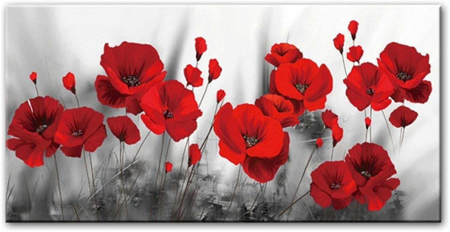 Beauty products Canvas Print Red Poppies Flower Posters Paintings Flow Art Wall free
