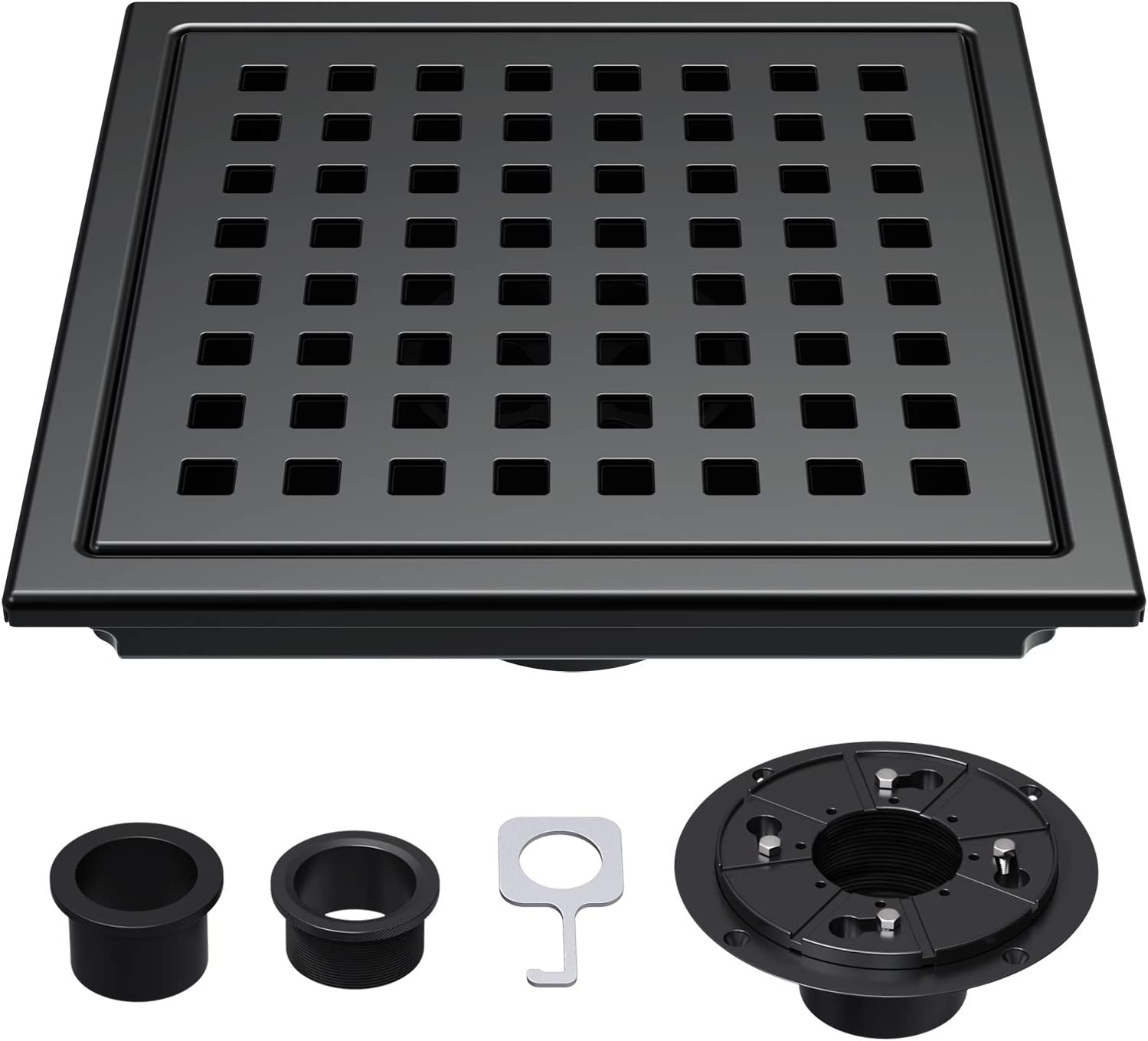 Square Shower Drain 6 inch 304 Bathroom High order Super Special SALE held Stainless Steel Floor Dr
