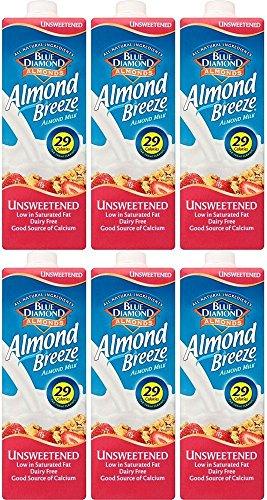 Paquete de 6 unidades – Blue Diamond – Leche de almendras sin azúcar | 1000 ml | Paquete de 6 unidades