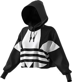 Women's Large Logo Cropped Hoodie Sweatshirt