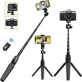 KKUYI - Trípode para selfie para iPhone con mando a distanc