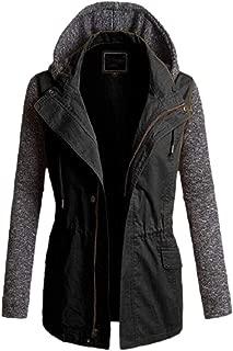 Women Military Anorak Jacket Lightweight Hoodie Trench Coat