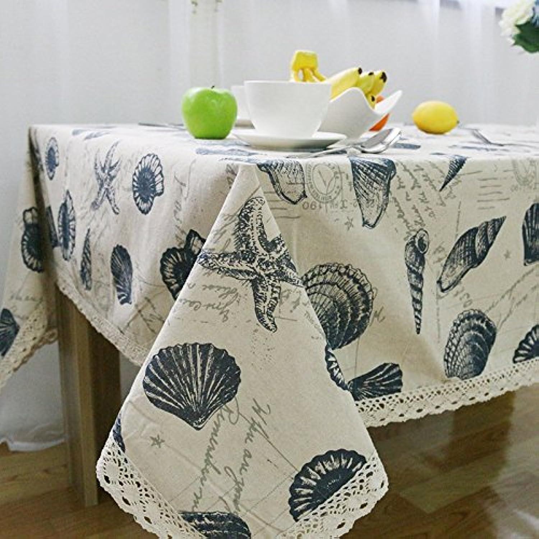 BDFNB Batik Tablecloths Seashore Shells Indoor Outdoor (gre   140  180CM)